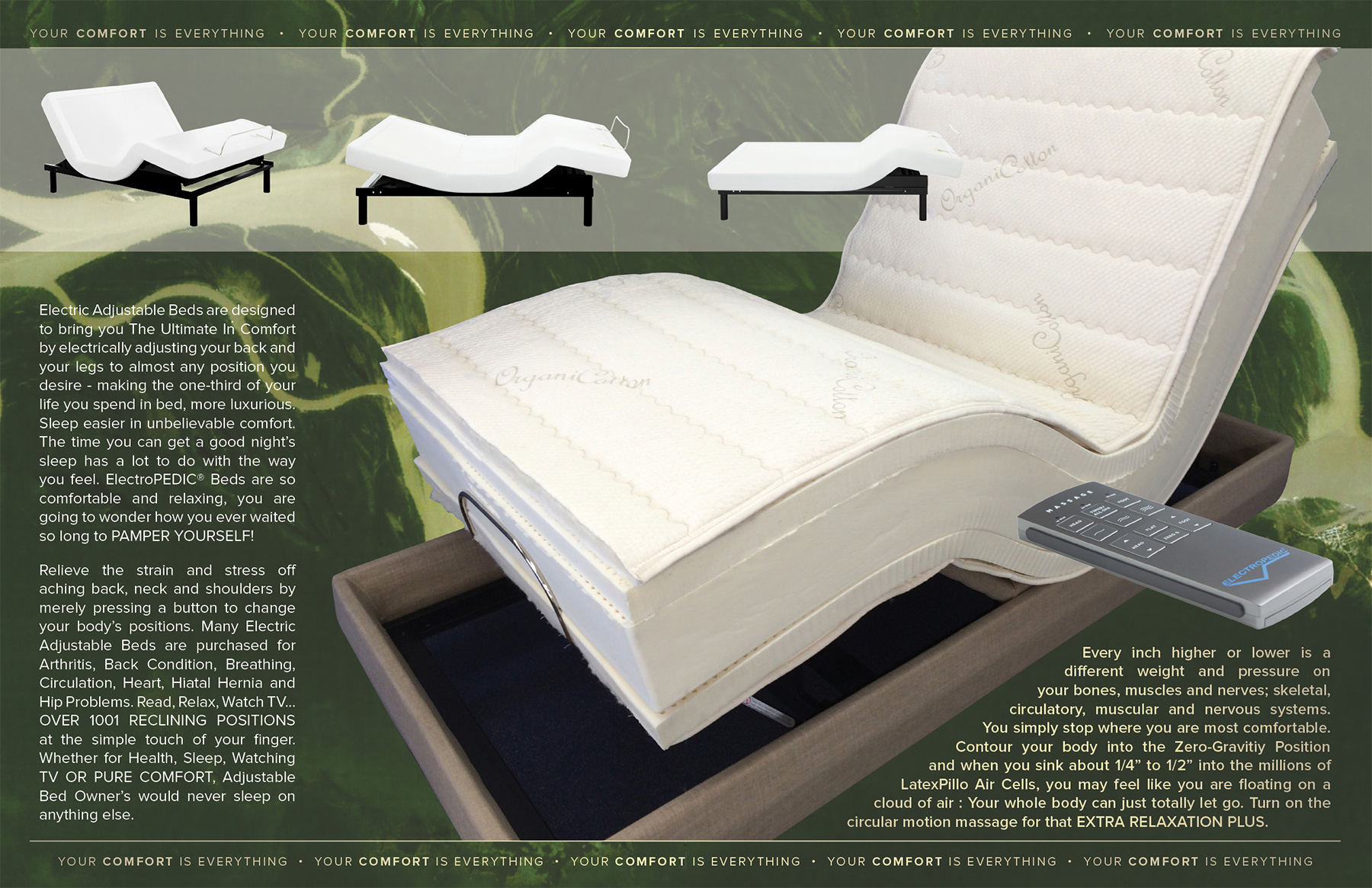 LA organic natural adjustable beds