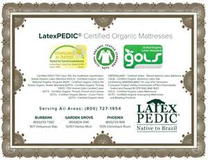 gols certified latex mattress Tucson, Mesa, Chandler, Glendale AZ, Scottsdale, Gilbert, Tempe, Peoria, Surprise, and all metro